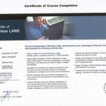 Certyfikat CISCO Wireless Lans