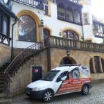 Inzatacja zabezpieczeń antywłamaniowych w pałacu