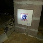 Zamontowana centrala alarmowa