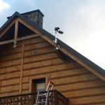 kamery na domku drewnianym