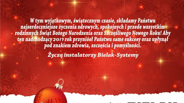 Bezpiecznych i spokojnych Świąt :)