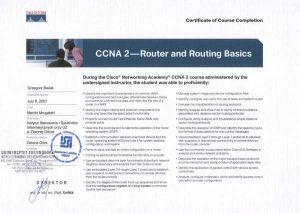 Certyfikat CISCO do konfiguracji routingu