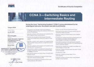 Certfikat CISCO - Przełączniki i urządzenia sieciowe