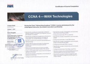 Certyfikat CISCO - technologie WAN