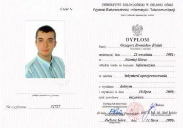 Dyplom inzynierii oprogramowania