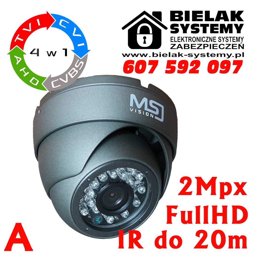 Zestaw do monitoringu: Kamera MSJ-FHD-4024G-IR-1080P + kabel + zasilacz