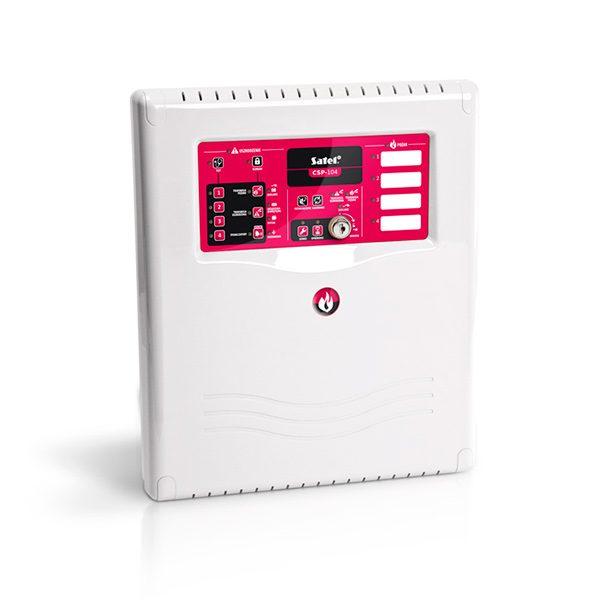 CSP-104 SATEL Konwencjonalna centrala sygnalizacji pożarowej, 4 linie dozorowe