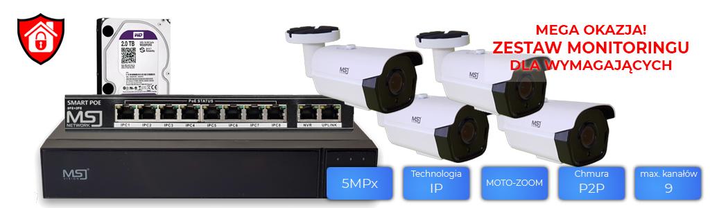 Zestaw IP MSJ NVR 6109PRO, 8304 Bielak Systemy