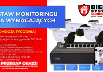 Zestaw monitoringu IP promocja Bielak-Systemy