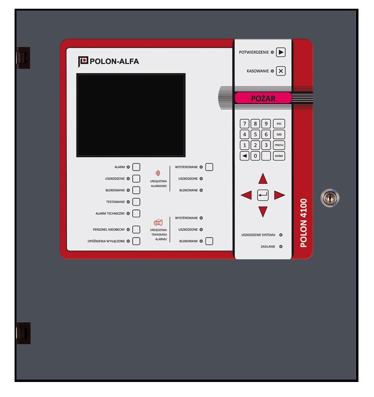 Polon 4100 Polon-Alfa Centrala sygnalizacji pożarowej (2×64 adresy), pełne oprogramowanie