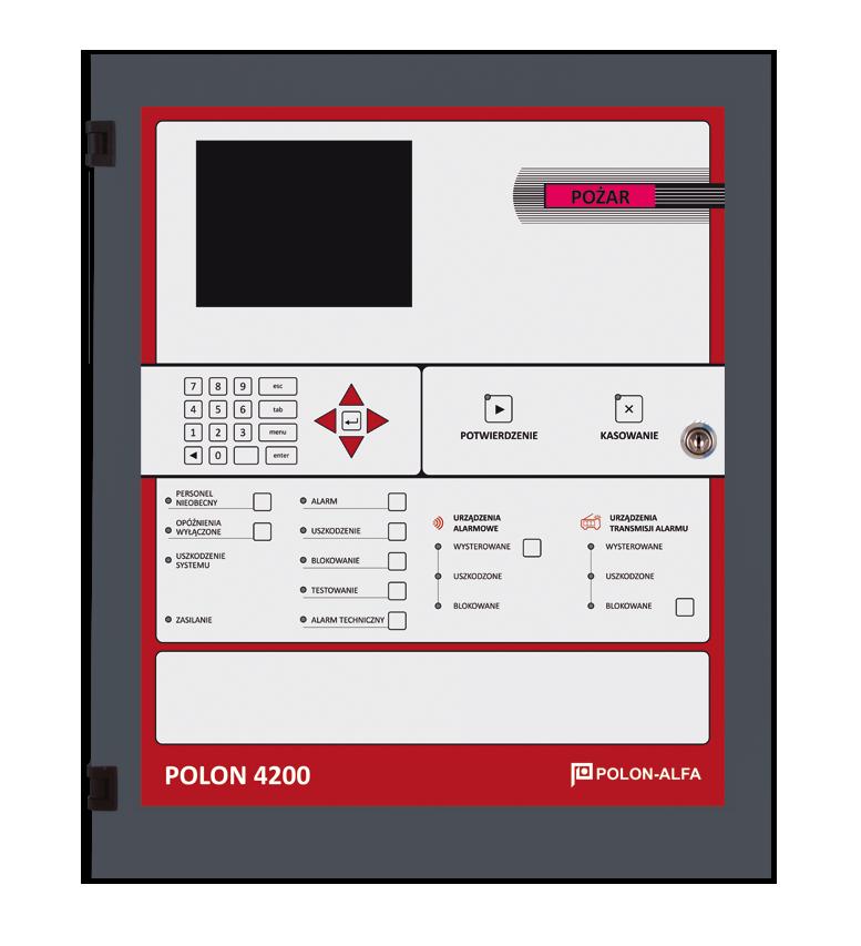Polon 4200 Polon-Alfa Centrala sygnalizacji pożarowej (4×64 adresy), pełne oprogramowanie, drukarka