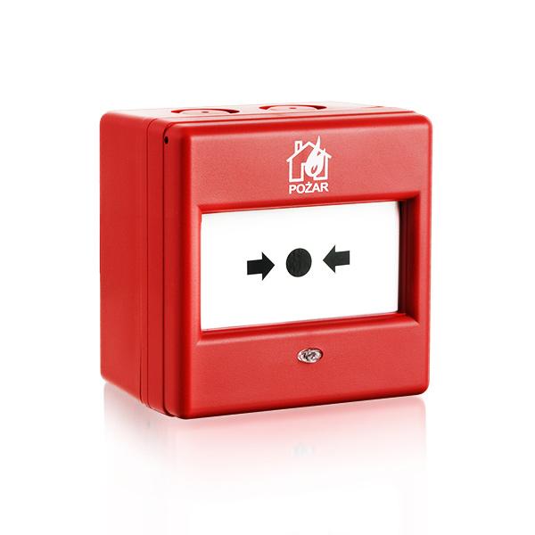 ROP-100/PL SATEL Ręczny ostrzegacz pożarowy, wewnętrzny, oznakowanie krajowe