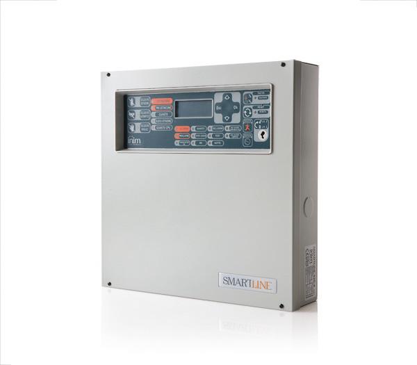 SmartLine020/4 INIM Konwencjonalna centrala przeciwpożarowa 4-strefowa, rozszerzalna do 20 stref
