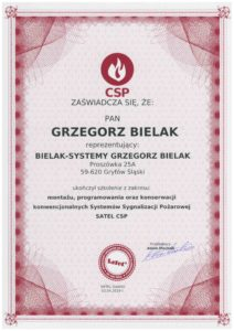 Certfikat CSP [Bielak-Systemy]
