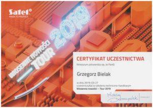 Certyfikat Satel Bielak Systemy