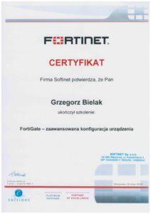 Certyfikat Fortninet Zaawansowana konfiguarcja urządzenia