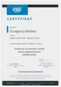 Certyfikat konfiguracja, uruchomienie i obsługa ssgp Elkron