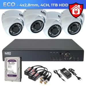 Zestaw CCTV ECO 4xCH MSJ Bielak-Systemy