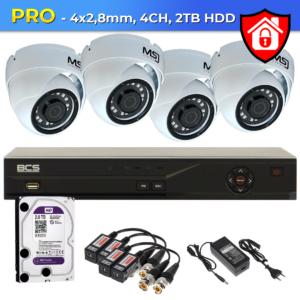 Zestaw CCTV PRO 4xCH MSJ Bielak-Systemy
