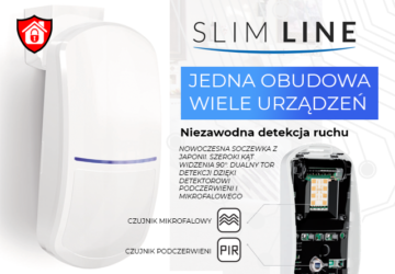 Nowa rodzina czujników ruchu Slim Line