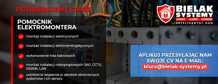 Praca Elektryk Elektromonter JELENIA GÓRA, GRYFÓW, LUBAŃ
