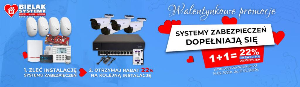 promocja na walentynki system monitoringu + system alarmowy