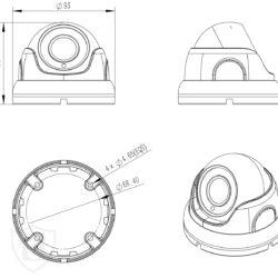 Kamera kopułkowa IP schemat 4318 MSJ Vision BIELAK-SYSTEMY