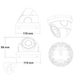Kamera kopułkowa IP schemat 5MPx MSJ VIsion BIELAK-SYSTEMY
