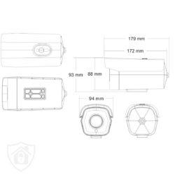 Kamera tubowa IP 8304 MSJ Vision BIELAK-SYSTEMY SCHEMAT