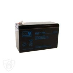 MWPower 12V 7Ah akumulator z zastosowaniem w systemach alarmowych. Bielak-Systemy