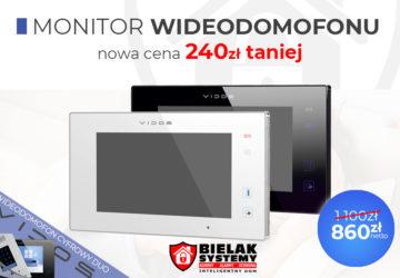 Nowa niższa cena monitora wideodomofonu vidos