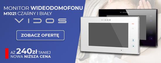 M1021 monitor wideodomofonu vidos. Nowa niższa cena