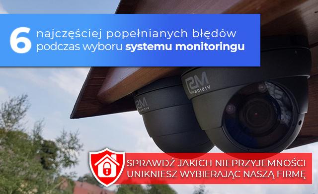 Unikij problemów związanych z instalacją monitoringu