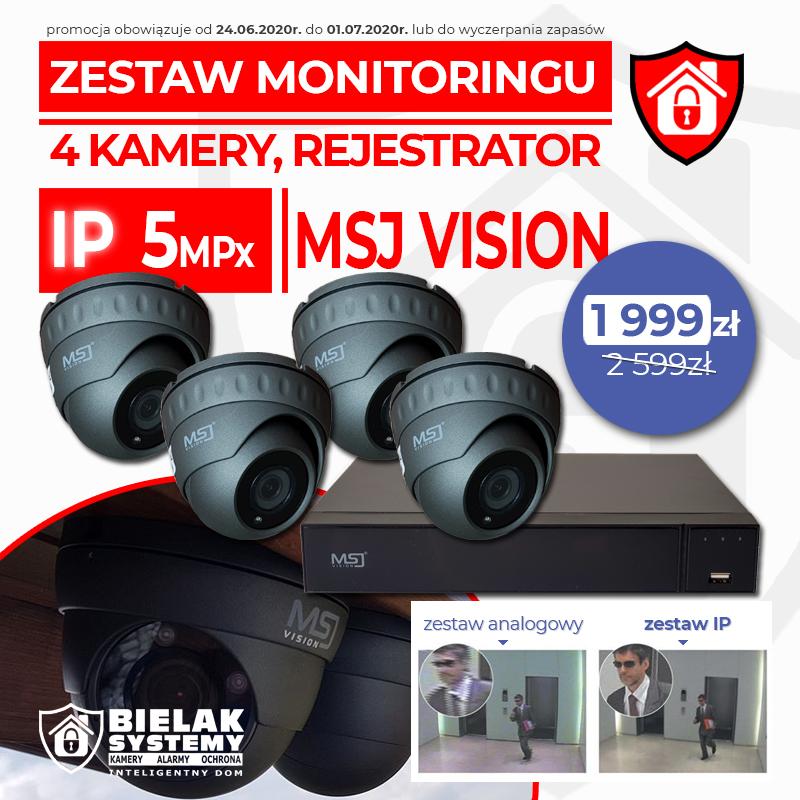 Zestaw monitoringu IP 5MPx MSJ VISION