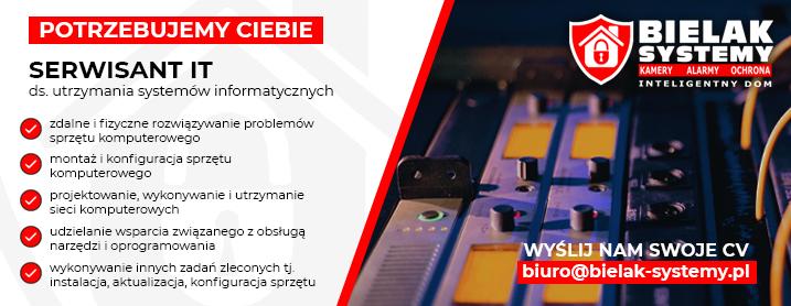 Praca Serwisant IT informatyk JELENIA GÓRA, GRYFÓW, LUBAŃ. Lwówek, Mirsk, Świeradów
