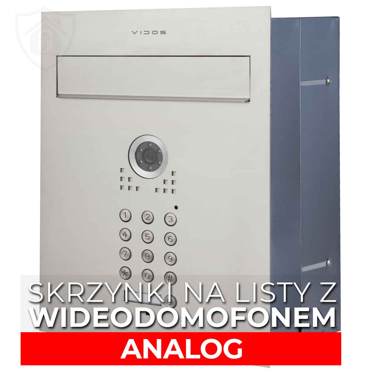 Wideodomofony ze skrzynką na listy analogowe VIDOS