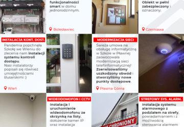 Instalacje monitoringu, widoedomofonów, sieci, alarmów w powiecie lwóweckim, lubańskim, zgorzeleckim, bolesławieckim, legnickim