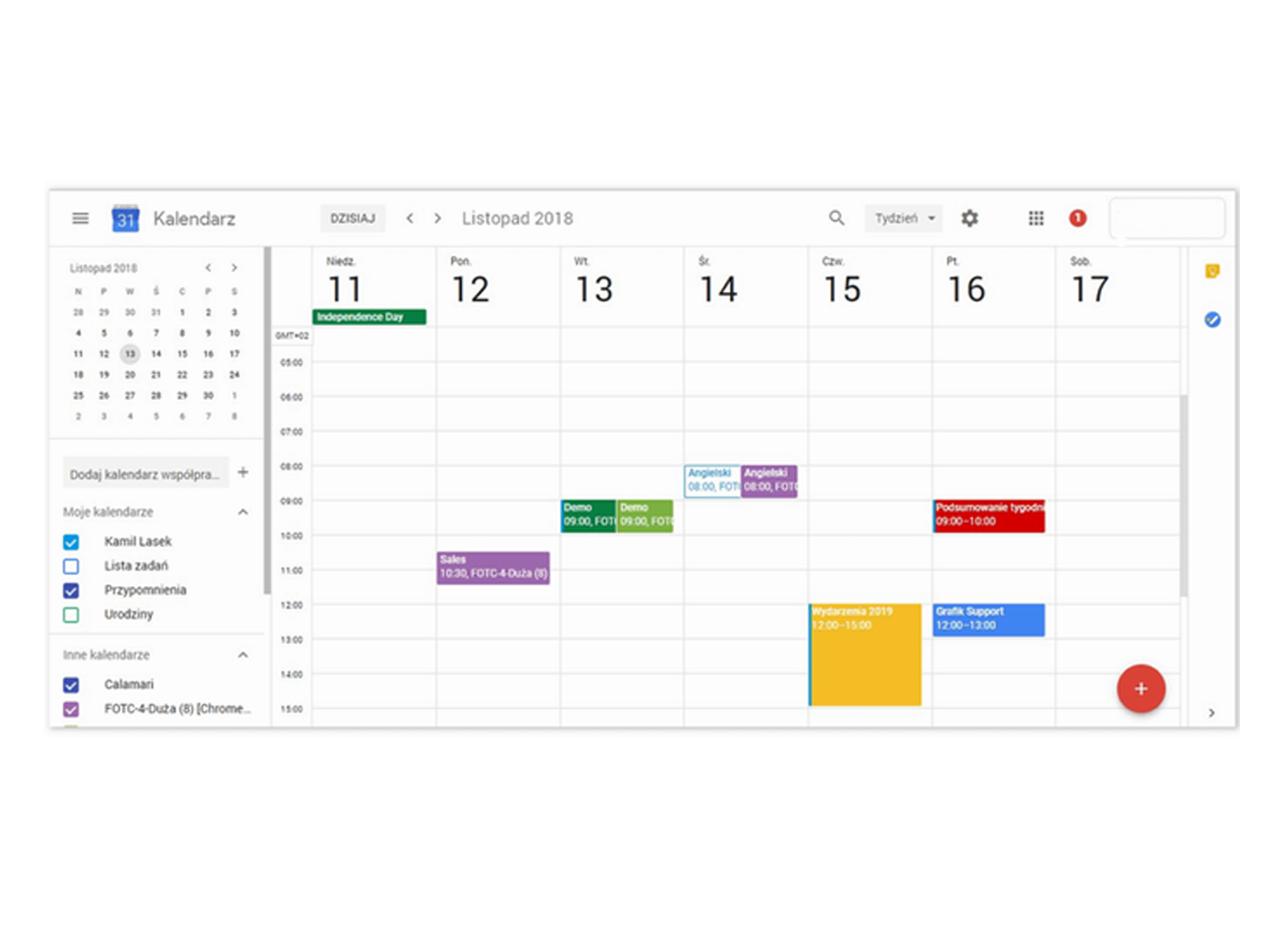 Kalendarz klasowy pakiet G Suit konfiguracja przez bielak-systemy