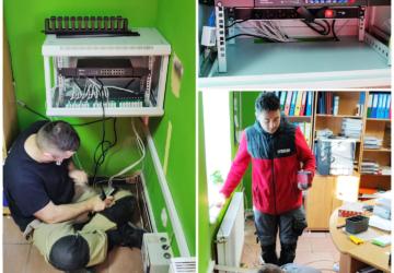 Instalacja modrnizacja sieci teleinformatycznej w Gryfowie
