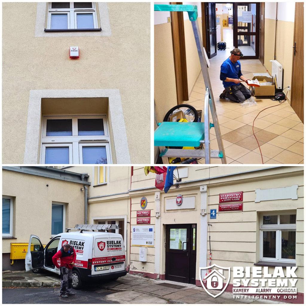 Instalacja wielostrefowego systemu alarmowego Powiat Lwówecki Starostwo